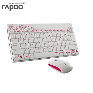 限量 30組 Rapoo 雷柏8000-白 無線光學鍵鼠組