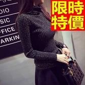 女高領針織毛衣-率性亮絲中長版修身女裝上衣4色64j18【巴黎精品】