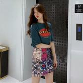 VK精品服飾 韓系時尚字母印花短袖休閒套裝短袖裙裝