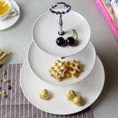 水果盤 三層水果盤客廳 創意下午茶點心架蛋糕架 家用現代歐式甜品台擺件 萬聖節