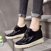 一件免運-正韓百搭內增高女鞋學生休閒鞋英倫風厚底高跟單鞋子