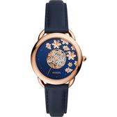 FOSSIL Tailor 花卉藍夜機械女錶-35mm ME3186