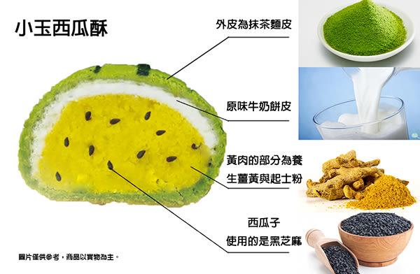 【格麥蛋糕】西瓜酥12入禮盒 榮獲第一名全國健康烘焙大賽