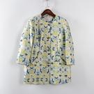 [超豐國際]如春秋裝女裝孔雀藍輕熟風時尚無領外套 散8460(1入)
