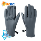 UV100 防曬 抗UV-涼感金屬拼接觸控手套-男