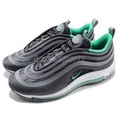 【六折特賣】Nike 休閒慢跑鞋 Air Max 97 UL 17 黑 綠 白底 氣墊 反光 男鞋 復古外型【PUMP306】 918356-009
