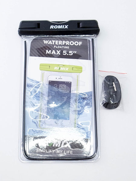 ROMIX 5.5吋 通用型夜光透明智慧手機防水袋   2色可選 iPhone 6/6S/7/8 Plus 可用