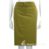 KENZO綠色反褶設計釦飾及膝裙 0910241-08