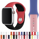 Apple Watch Series 錶帶 S6錶帶 S5錶帶 S4錶帶 S3錶帶 撞色 矽膠 蘋果錶帶 38mm 40mm 42mm 44mm