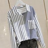 棉麻襯衫女2021秋冬新款設計感小眾大碼胖mm遮肚顯瘦長袖t恤上衣 韓國時尚週