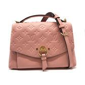【台中米蘭站】全新品 Louis Vuitton Blanche BB 牛皮掀蓋手提/斜背二用包(M43674-粉)