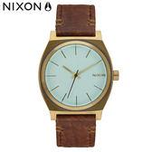 NIXON 手錶 原廠總代理 A045-2223 Time Teller 咖啡金色 潮流時尚皮錶帶 男女  生日 情人節禮物