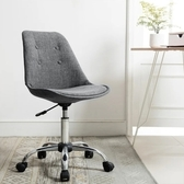 E-home 帕梅拉可調式拉扣電腦椅-灰色