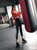 瑜伽褲 冰絲打底褲女外穿跑步褲子薄款瑜伽褲七分健身緊身運動九分褲夏季