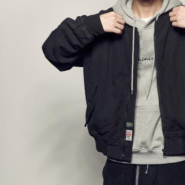 飛行外套男道獨家秋裝新品美式水洗飛行員夾克男日系工裝外套青少年棒球外套