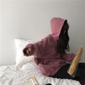 ins超火衛衣女秋冬新款chic加絨加厚連帽外套韓版潮學生寬鬆上衣大宅女  喵喵物語