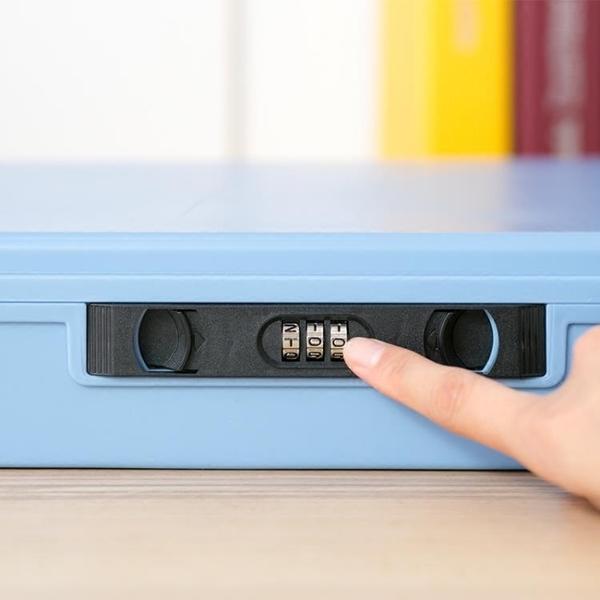 愛麗思IRIS帶鎖密碼鎖收納箱塑料收納盒文件整理箱 證件護照保管