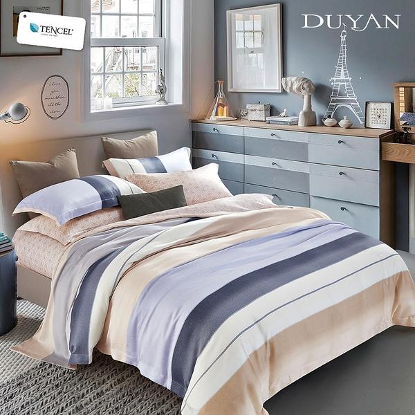 《DUYAN竹漾》100%天絲雙人加大兩用被床包四件組-阿布達比