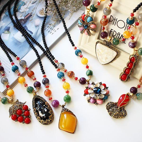韓國毛衣鍊長款女時尚秋冬衣服配飾項鍊女歐美掛件鎖骨鍊吊墜飾品
