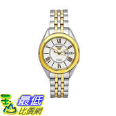 [美國直購] Seiko Men s 男士手錶 SNKL36 Two Tone Stainless Steel Analog with White Dial Watch