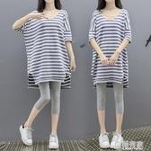 孕婦夏裝洋裝2020時尚潮媽中長款孕婦兩件套裝孕婦裝夏天裙子 聖誕免運