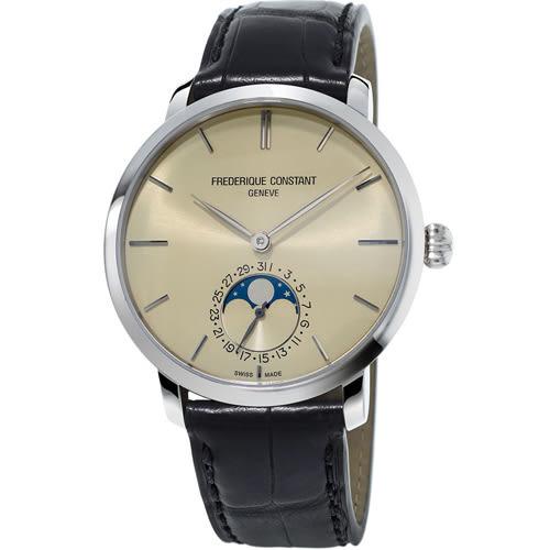 康斯登 CONSTANT 自製機芯超薄月相腕錶  FC-705BG4S6