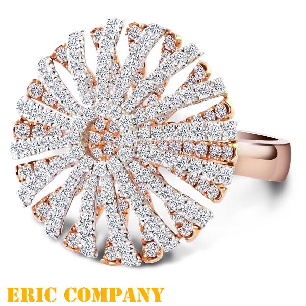 Eileen Me Fanny Clytie梵妮~18K玫瑰金鑲鑽 造型鑽戒 #12.5