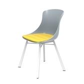 組 - 特力屋萊特 塑鋼椅 金屬一體成型腳架/灰椅背/黃座墊