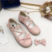 日系森女洛麗塔洋裝軟妹lolita鞋子粗跟圓頭可愛蝴蝶結cos公主鞋