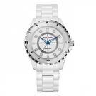 Royal Crown - 39mm J12款式 全白陶瓷腕錶 RC女錶 情侶錶對錶