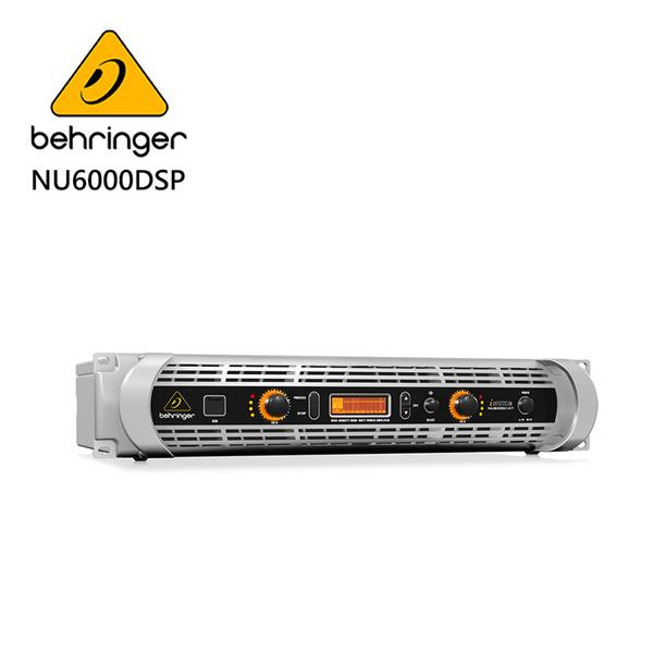 BEHRINGER NU6000DSP專業PA喇叭功率擴大機(超輕量6000瓦/D類技術/USB接口)