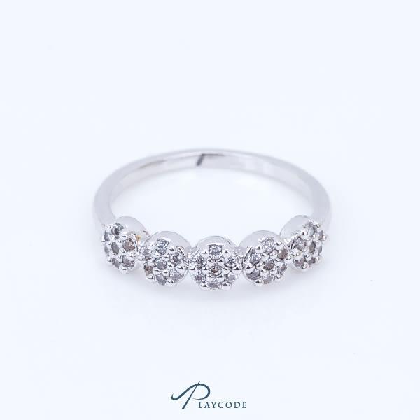 戒指 鋯石 花 金色 銀色 玫瑰金 正韓現貨