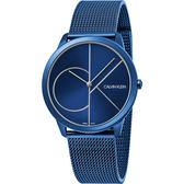 Calvin Klein CK Minimal 經典大LOGO手錶-藍/40mm K3M51T5N