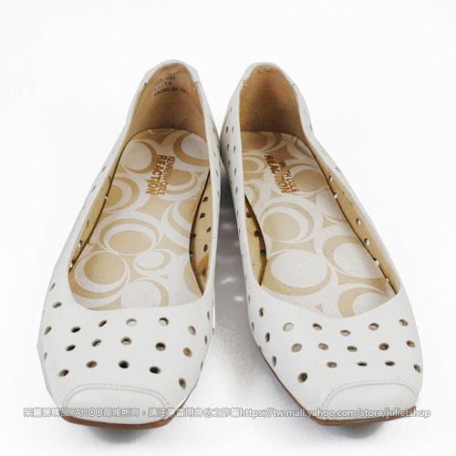 茱麗葉精品 二手名牌【8.5成新】KENNETH COLE REACTION 時尚皮革洞洞平底包鞋