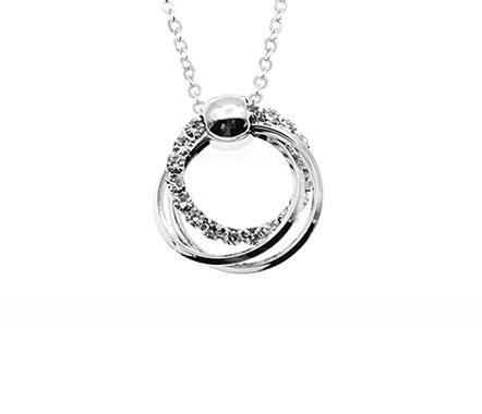玫瑰金圓環吊墜項鍊女鎖骨鍊