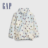 Gap女幼Gap x Disney 迪士尼系列米妮時尚半高領拉鍊開襟連帽衫540824-米妮老鼠圖案