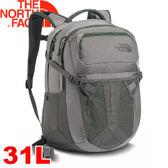 【The North Face 31L 15吋電腦背包 月霧灰/鴨綠】NF00CLG4/電腦書包/筆電包/後背包★滿額送
