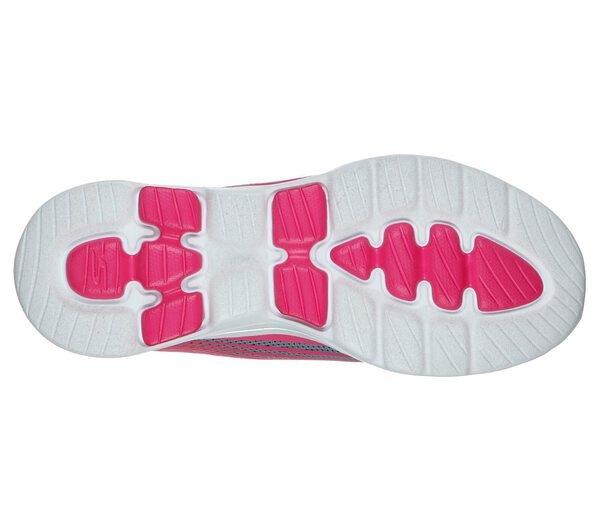 Skechers Go Walk 5 - Exotic [124009GYPK] 女鞋 運動 健走 避震 懶人 灰粉