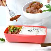 ♚MY COLOR♚帶蓋密封保鮮飯盒(小) 便當 卡扣 菜盒 野餐 三明治 露營 食物 外出【M029-2】