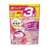 日本P&G 3倍洗衣膠球補充包46入X4粉色(牡丹花香)