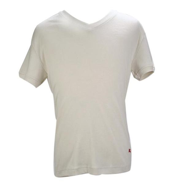 BURBERRY紳士透氣排汗棉質上衣M(白色)085192-2