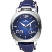 Anonimo Militare 義式軍風機械腕錶-藍/43.4mm