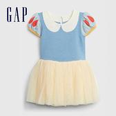 Gap嬰兒 甜美風格拼接紗裙洋裝 593670-藍色拼接