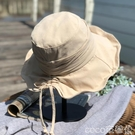 熱賣平頂帽日系文藝平頂漁夫帽女夏季出游防曬布藝遮陽帽子女可折疊百搭 coco