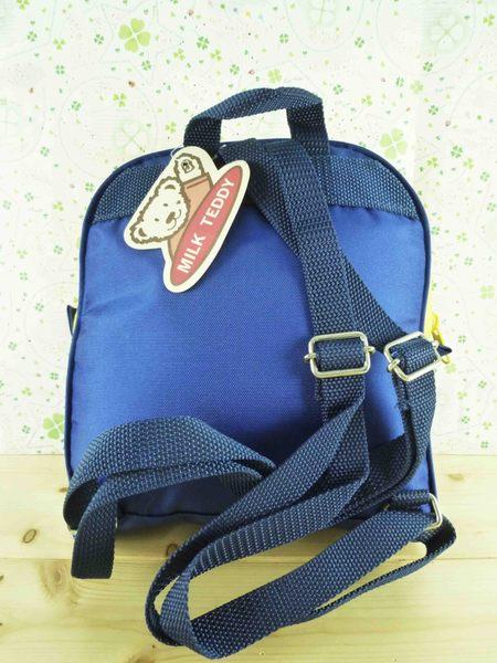 【震撼精品百貨】日本綜合熊_MILK TEDDY~後背包『黃藍』