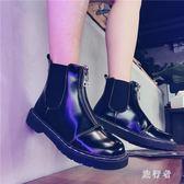 馬丁靴 女英倫風2018新款短靴女尖頭鞋靴子 BF7988【旅行者】