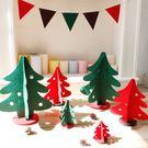 聖誕節 ZAKKA雜貨不織布紅綠立體聖誕樹迷你版/聖誕擺飾配件裝置藝術