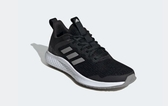 Adidas-FLUIDSTREET 女款黑白輕量緩震慢跑鞋-NO.FW1714