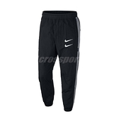 Nike 長褲 NSW Swoosh Pants 黑 白 男款 風褲 運動休閒 【ACS】 CJ4878-010