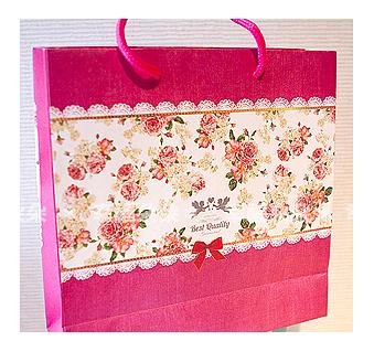 幸福朵朵*【天使玫瑰手提袋(25X25X8.5cm)小手提袋(包裝袋.可裝禮品)】送客禮物.婚禮小物紙袋